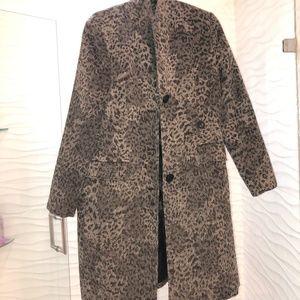 Cheetah Trench Coat